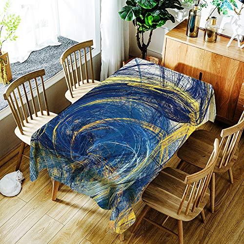 YUEMI Mantel Sencillo Y Moderno Impresión Digital Mantel Rectangular Resistente Al Aceite E Impermeable Mantel Cuadrado Apto para Uso Interior Y Exterior 150x210cm