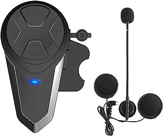 Lemnoi BT-S3 Intercomunicador Casco Moto, Intercomunicador Bluetooth para Moto Manos Libres Radio FM, Gama Comunicación In...