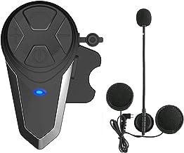 Lemnoi BT-S3 Intercomunicador Casco Moto, Intercomunicador Bluetooth para Moto Manos Libres Radio FM, Gama Comunicación Intercom de 1000m, Impermeabilidad (BT-S3*1)