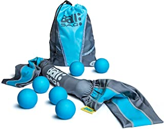 BALSAQ 6 Ultimate Mobility Recovery Massage Balls Fascia & Trigger Point Release Tool, Deep Tissue Yoga Therapy - More Portable Than Foam Roller - Perfect Workout Companion