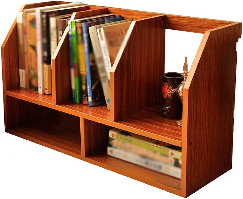 Modern Creative Home Multi-Purpose Desktop Bookshelf, Office Small Bookshelf Student Dormitory Storage Rack (color   Brown)
