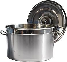 Stock Pot, 304 RVS Soepemmer met deksel, Huishouden/Commerciële Soep Stoofpot, voor Gasfornuis/Inductie Fornuis (30-50cm)...