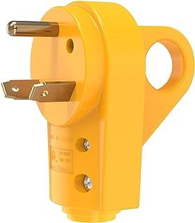 Kohree 30 Amp RV Plug 125V Heavy Duty RV PowerGrip Male Replacement Plug Receptacle Plug With Ergonomic Grip Handle, Yellow
