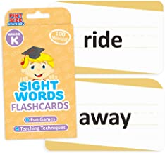 Pint-Size Scholars Sight Words Flashcards for Reading Readiness - Choose from 5 Grade Levels, 100 Words Each