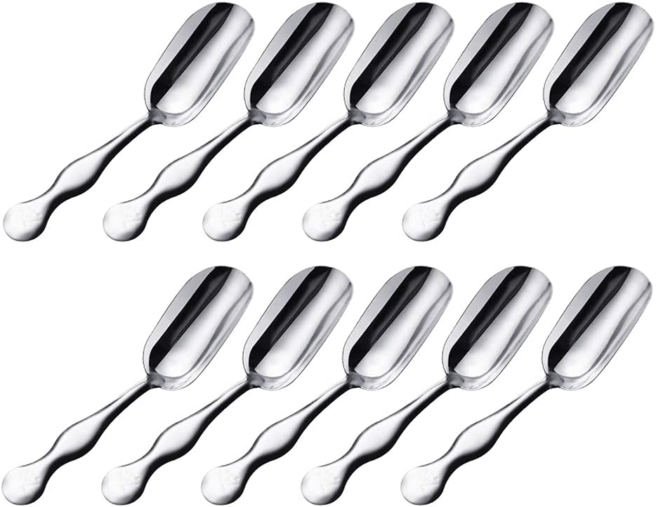 Max 76% OFF UTENEW 10 Stainless Steel Cheap super special price Tea Teaspoons Lit Scoops Shovels Small