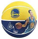 Spalding NBA Player Stephen Curry Sz.7 83-343Z Pelota de Baloncesto, Hombre, Amarillo/Azul, 7