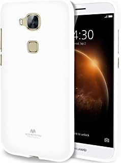 GOOSPERY Pearl Jelly for Huawei G8/ GX8/ Mamang 4 Case with Screen Protector Slim Thin Rubber Case (White) HWG8-JEL/SP-WHT