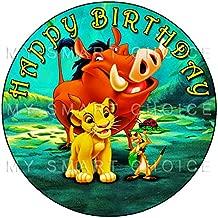 lion king edible cake image