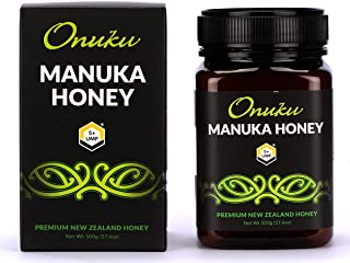 Onuku Premium New Zealand UMF 5+/MGO 85+ (500G) Authentic Manuka Honey   100% Pure Mineral Rich Properties Non GMO Certifi...