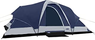 Pacific Pass Camping Tent 8 Person Family Dome Tent with Dividers Awning & Removable Rain Fly, Easy Set Up for Camp Backpa...