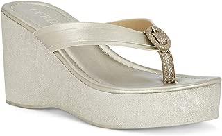 Ceriz Women's Lea Gold Sandals