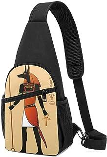 Hdadwy Mochila de la honda de los murales de Egipto, bolso ocasional del pecho de los hombres de la bandolera de senderism...