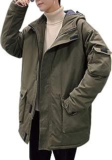 Jearey 中綿ジャケット メンズ モッズコート ジャケット ロング アウター 冬服 無地 厚手 中綿 暖かい 防寒 アウターウエア ボリュームネック フード付き シンプル 3色 M-5XL展開