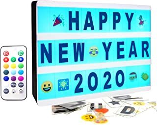 Gemaxvoled Color Changing Cinematic Light Box- A5 Magnetic Mini Cinema Light Up Sign with 160 Letters Numbers and Symbols,...