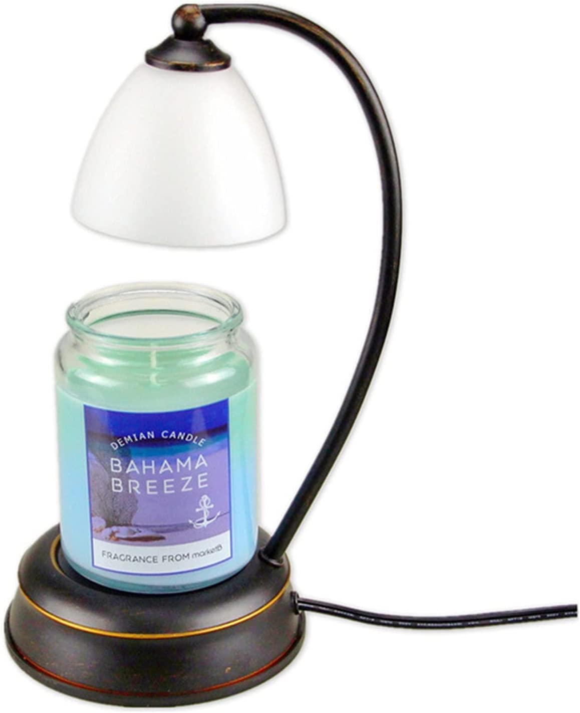 YAYONG Vintage Candle Wax Melter Aromatherapy low-pricing Free shipping on posting reviews Lamp Antique Black