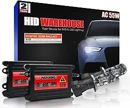 HID-Warehouse 55W AC Xenon HID Lights with Premium Slim AC Ballast - Bi-Xenon H4 / 9003 5000K - 5K Bright White - 2 Year Warranty