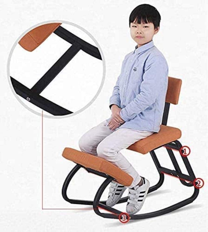 Fauteuil Une bonne posture assise Genoux chaise ergonomique Kneel Tabouret Posture Backs Facilité épaules cou colonne vertébrale Douleur Chaise tabouret (Color : Blue) Gray