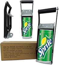 Delta Prime Savings Club - 12oz / 16oz Metal Can Crusher/Smasher, Crushes Soda Cans, Beer Cans and Water Bottles - Heavy Duty Large Metal Wall Mounted Soda Beer Smasher - Eco-Friendly Recycling Tool