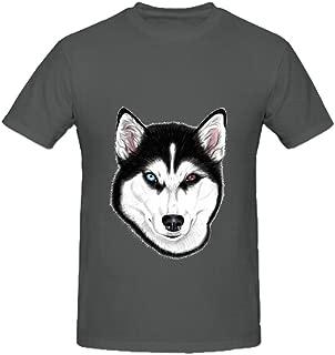 Husky Different Eyes Men O Neck Big Tall Tee Shirts