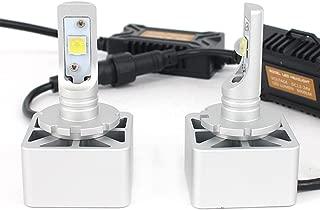 Car LED Headlights Headlamp Bulbs All-in-one Conversion Kit,3000K/6500K/8000K 2 Year Warranty (D1S /D1R /D3S /D3R /D1/ D3, Lens special car LED headlights)