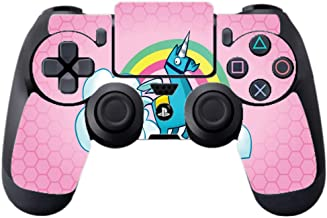 Rainbow Unicorn Pink Background Design PS4 DualShock4 Controller Vinyl Decal Sticker Skin by egeek amz [video game]