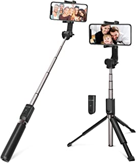 Selfie Stick Bluetooth, BlitzWolf 35 inch Super Long Extendable Selfie Stick with Wireless Remote and Tripod for iPhone Xs MAX/XR/XS/X/iPhone 8/8 Plus/iPhone 6/Galaxy S9/S9 Plus/Note 8/S8/S8 Plus/More