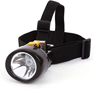Mining Cap Headlight Lamp KL3.0LM Rechargeable Wireless LED Miners Head Light Flashlight for Hunting Night Fishing Camping Waterproof Explosion Proof(Yellow)