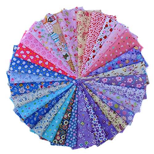 WXZJ katoenen stof per meter stof resten stofpakket voor patchwork 100% katoen doe-het-zelf katoenen doek met veelzijdige patronen voor het naaien 15*20cm