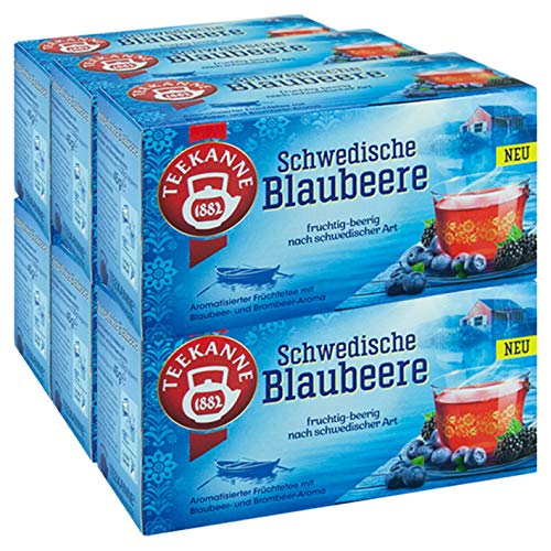 Teekanne Schwedische Blaubeere, 6er Pack