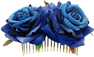 DDazzling Women's 2 xRose Flower Comb Floral Hair Comb Hair Piece Flowers Comb