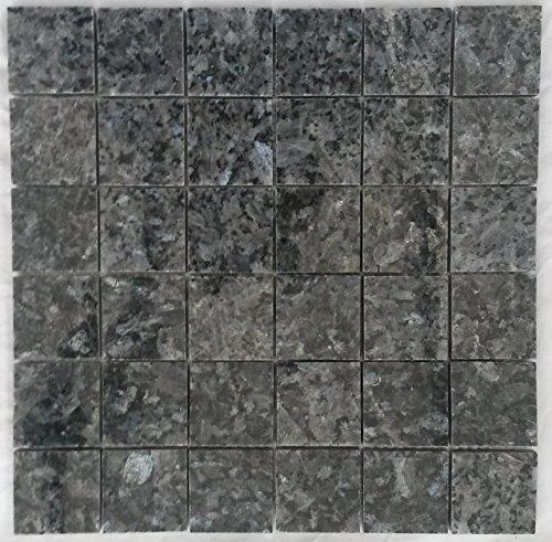 Granito mosaico Matte Blue Pearl 30x 30cm 4,8x 4,8Pulido Piedra Natural azulejos M045