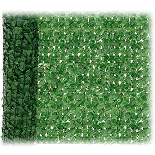 JUEYAN 150 x 300 cm Sichtschutzzaun Grün Gartensichtschutz Kunststoff Sichtschutzmatte Windschutz Sichtschutz Verkleidung für Balkon (300 x 150 cm)