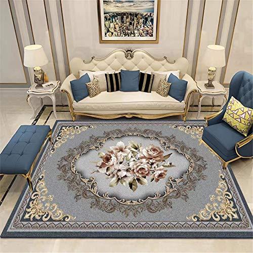Misshxh tapijt, rozenpatroon, antislip, waterdicht, zacht en wollig, geschikt voor woonkamer, slaapkamer, keuken, hal. 120x200cm