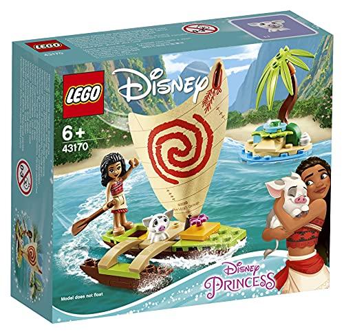 LEGO Disney Princess - Aventura Oceánica de Vaiana Juguete de Construcción Creativo de la Película, con Muñecas de Vaiana y Púa, Contiene una Canoa y otros Elementos, a Partir de 6 Años (43170)
