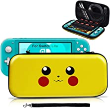 Housse pour Switch Lite, Pochette Anti-choc Désigné pour Pokémon Lets' go Pikachu/Eevee, Etui Portable Sacoche de Transpor...
