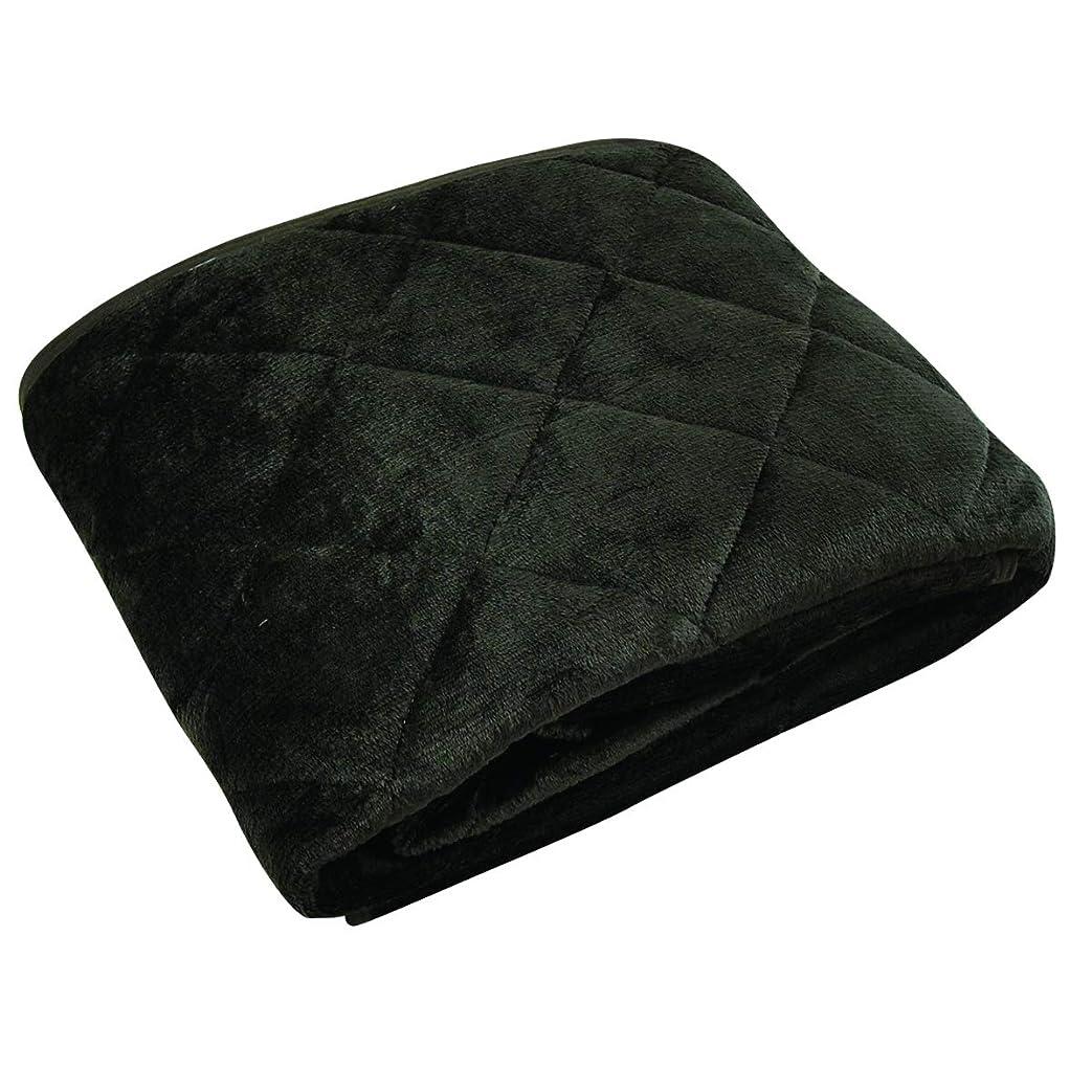 ヘロイン勧告楽な吸湿発熱 なめらかフランネル 敷きパッド 洗える ダブル 140×200cm (ブラウン)
