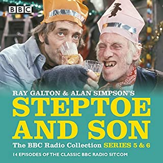 Steptoe & Son: Series 5 & 6     15 episodes of the classic BBC radio sitcom              By:                                                                                                                                 Ray Galton,                                                                                        Alan Simpson                               Narrated by:                                                                                                                                 Harry H Corbett,                                                                                        Wilfrid Brambell                      Length: 7 hrs and 27 mins     43 ratings     Overall 4.9