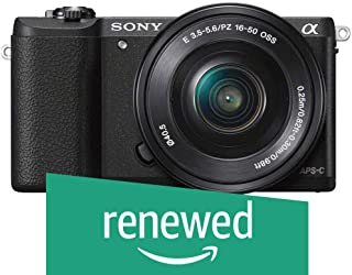 Sony a5100 16-50mm Mirrorless Digital Camera with 3-Inch Flip Up LCD (Black) (Renewed)