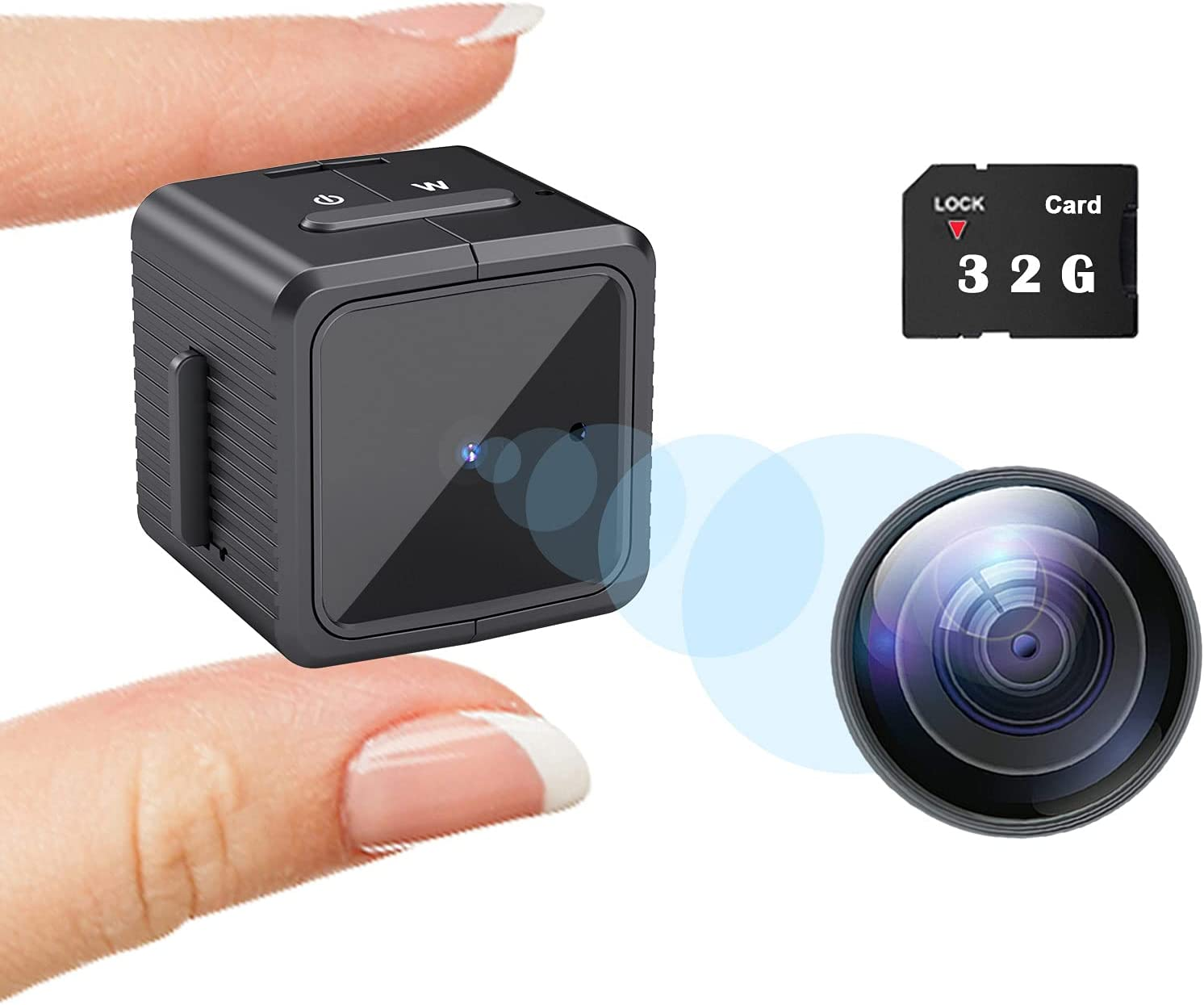 Hidden Camera 1080P Spy Camera Yoroshi Nanny Cam with Motion Detection Mini Spy Camera with Night Vision Hidden Cameras for Spying with 32GB SD Card Mini Camera for Indoor and Outdoor (No Wi-Fi)