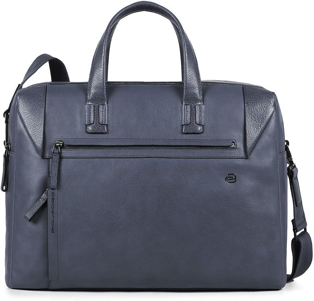 Piquadro, borsa, cartella porta pc portatile, 100% vera pelle CA4256S94/N