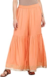 Women's Wide Leg Palazzo Pants Elastic Waist Loose Plain Casual Trouser Yoga