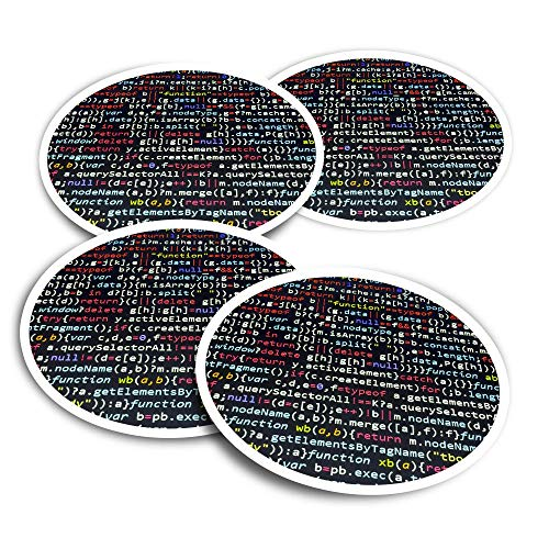 Vinyl Stickers (Set of 2) 10cm - Javascript Code Hacking Programmer Fun Decals for Laptops,Tablets,Luggage,Scrap Booking,Fridges #16333