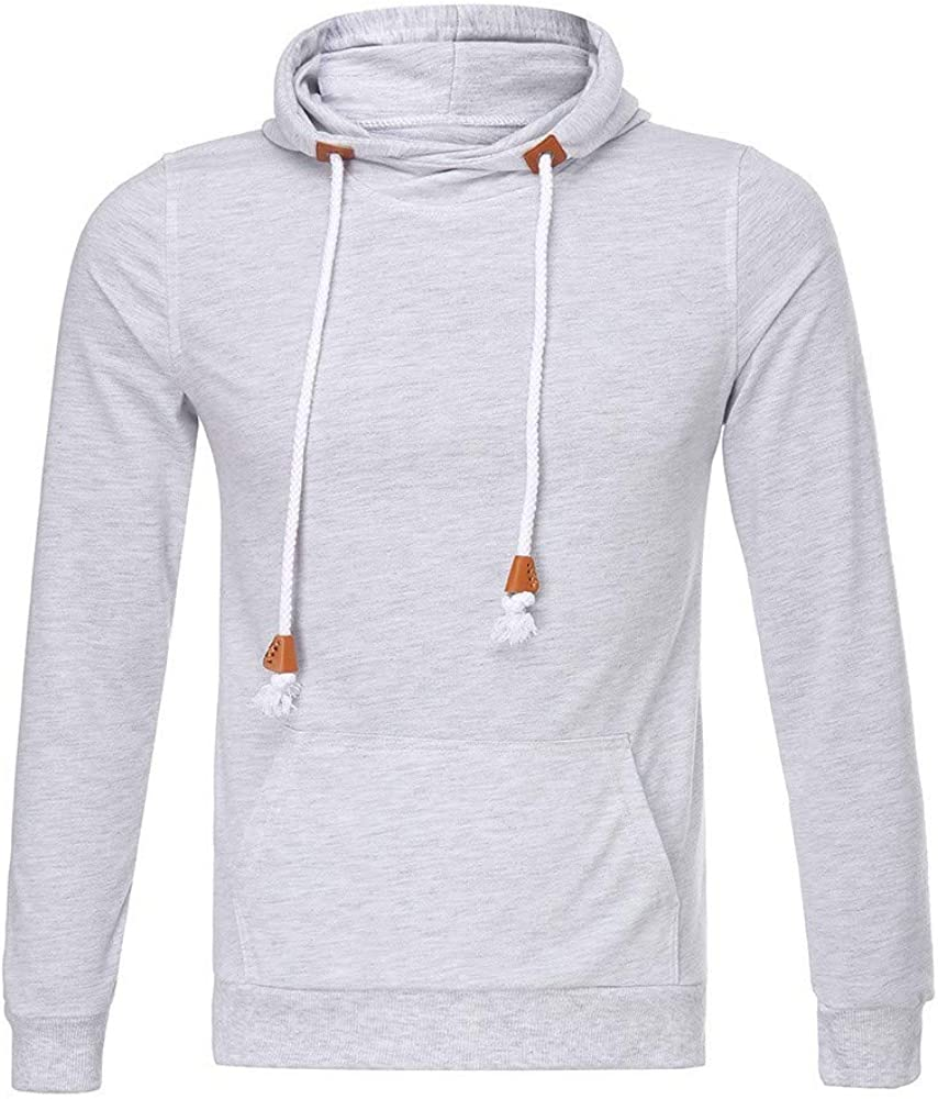 MODOQO Men's Sport Shirts,Casual Solid Color Long Sleeve Slimd Fit Soft Cotton Hooded Tees