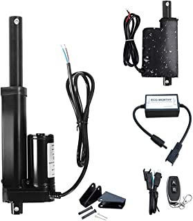 Weight 0.15KG 4.5lbs 20N Mini Linear Actuator Motor DC12V with Wireless Remote Control Kit 3 Inch High Speed 15mm//s 0.6//sec