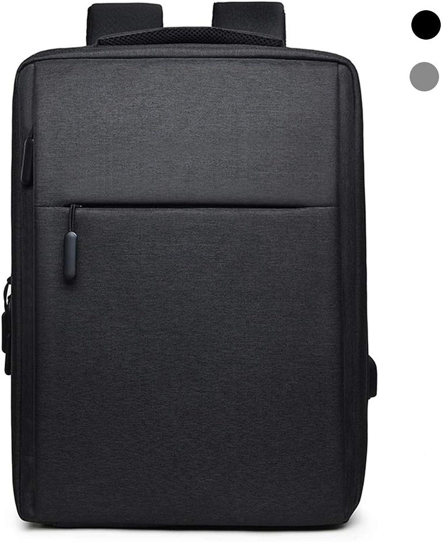 Rucksack für Laptops und Netbooks, lässiger Rucksack mit mit mit USB-Ladeanschluss, Rucksack für Sport und weiches Leder im Freien wasserdicht, Rucksack für Studenten, 20-35L,schwarz B07M8J9V9N  Ausgewählte Materialien f2fa14