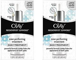 (2 Pack)-Olay Regenerist Luminous Tone Perfecting Treatment, 1.3 Fl Oz each
