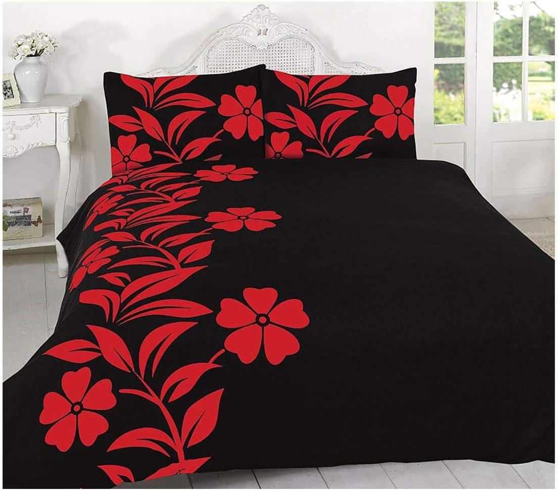 Rimi Hanger Alyssa Cheap SALE Start Floral Print Duvet Manufacturer regenerated product Luxu Case Pillow Set Cover