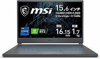 MSI エムエスアイ ゲーミングノートパソコン Stealth 15M A11 カーボングレイ Stealth-15M-A11UEK-211JP [15.6型 /intel Core i7 /メモリ:16GB /SSD:512GB /2021年...