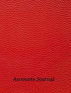 Accounts Journal: Financial Accounting Journal Entries : General . Notebook With Columns For Date, Description, Reference, Credit, And Debit. Paper Book Pad with  100 Record Pages 8.5 In By 11 In