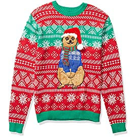 Blizzard Bay Men's Ugly Christmas Sweater Cat 6 Festive and humorous patterns that are perfect for the holiday season Made with a soft knit for a comfortable and easy fit